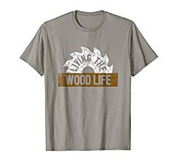 006f19aee Mens Woodworking T Shirt Funny Living Wood Life Carpentry Shirt Large Slate