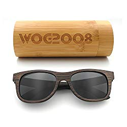 7d5ad08caaa Polarized Bamboo Sunglasses Mens Womens Lightweight Wood Wayfarer Shades  that Floats